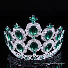 Desfile Corona de diamantes de imitación Tiara Cristal damas Coronas