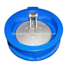 Válvula de retenção de chapa dupla tipo Wafer com disco CF8m