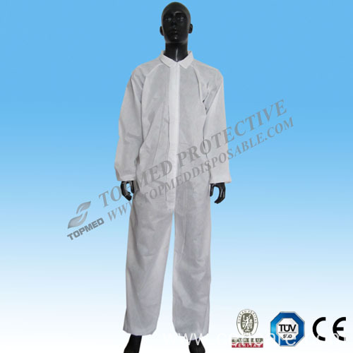 Coverall with collar