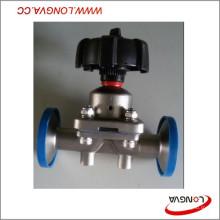 Válvula de control de diafragma con abrazadera sanitaria de acero inoxidable