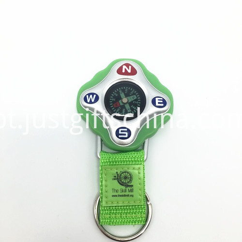 Promotional Green Color Compass Keyrings_2