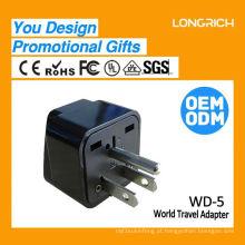 Multifuncional Travel Plug duplo soquete europeu, mais recente usb socket ce rohs approved
