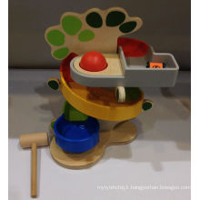 Wooden 2 in 1 Punch Ball and Racing Car Set Toy for Kids and Children