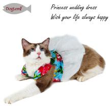 Cão Tutu Vestuário Vestido Saia Flor Pet Cat Princesa Roupas de Casamento Roupas para Cachorros Vestidos
