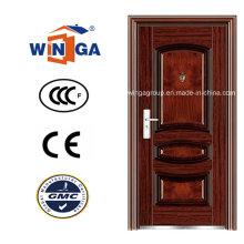 Gute Preis Sicherheit Metall Außen Stahl Eisen Tür (WS-112)