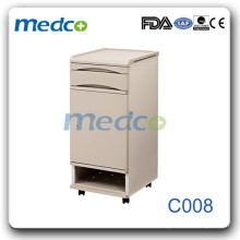 ABS plastic & steel hospital bedside cabinet with shoes storage C008
