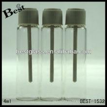 Vial de muestra de perfume de 4 ml, nuevo vial de muestra de perfume de tornillo, vial de muestra de perfume de tornillo con barra de prueba