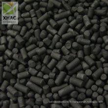 Charbon actif à base de charbon cylindrique de 4,0 mm à faible teneur en cendres pour récupération de solvant