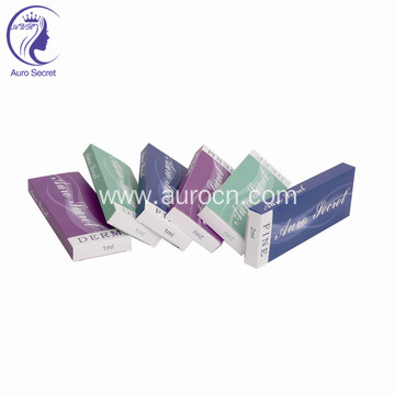 Hyaluronic acid dermal filler needle cannula syringe