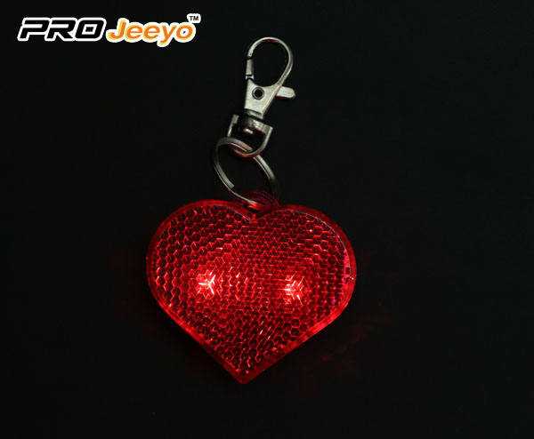 LED Hi Vis Safety Children School Bag Red Keychain RB-501D 5