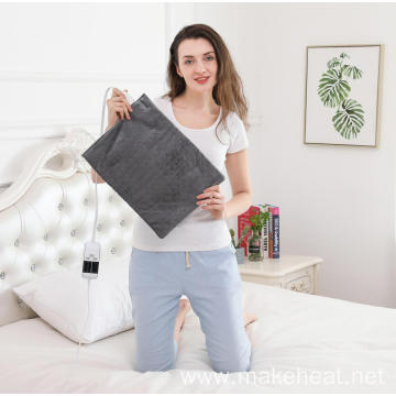 UL Approved Small Grey Washable Therapeutic Heating Pad With Digital LCD Control Warming Pad