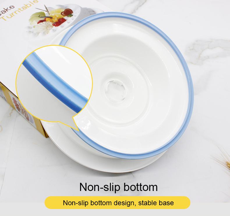 Revolving Plastic Cake Stand with Non-Slip Base (8)
