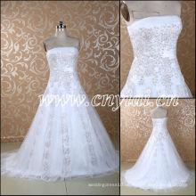 JJ3056 Bördeln Lace Boden Länge Suzhou 2013 Brautkleid