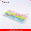 Plastic Pill Box with 21-Cases (KL-92101F)