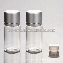 Garrafa de plástico PET de 10ml transparente com tampa de alumínio