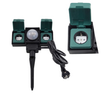 Two-way garden sockets with Sensor