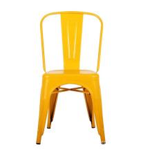 Chaise en métal de meubles d'école de jardin d'enfants avec des coussins