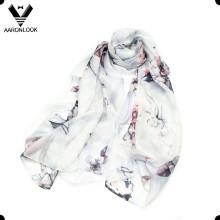 Écharpe en soie à la mode élégante de la fleur de la nouvelle fleur de 2016