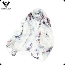 2016 Новый цветок принцессы изящный шелковый шарф моды