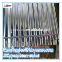 Chapa de cobertura de aço galvanizado galvanizado a quente