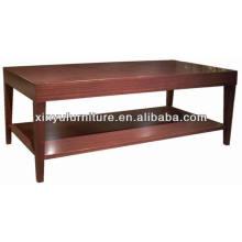 Mesa de té de madera rectangular de doble piso / mesa de centro XY0867