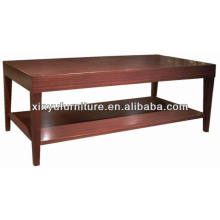 Double-deck rectangle wooden tea table/coffee table XY0867