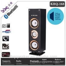 BBQ 25W 3000mAh build-in battery Wooden Tower Bluetooth Speakers USB FM Radio Best Remote control