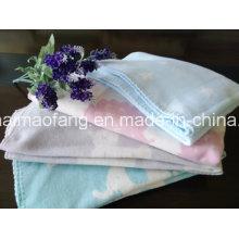 Couverture bébé 100% coton avec motif Jacquard