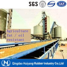 Agriculture utilisant la bande de conveyeur en caoutchouc résistante à l'huile de graisse végétale