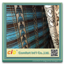 100 polyester canapé Chenille chenille jacquard canapé tissu 2015