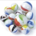Wholesale New Style Colored Flat Glass Marbles Beads