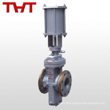Pneumatic cheap flat slab gate valve / hydraulic slab gate