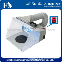 HS-E420DCLK spray booth with LED in dark environment for hobby painting