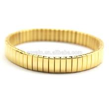 Art- und WeiseEdelstahl-elastische Goldstulpe-Greifer-Kettenarmband-Fabrik-kundenspezifische Schmucksachen