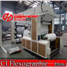 Máquina de impresión Flexographic del papel del Serviette de 4 colores de alta velocidad (CH804)