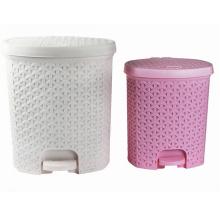 Diseño de tejido creativo de plástico pedal de basura (yw0091)
