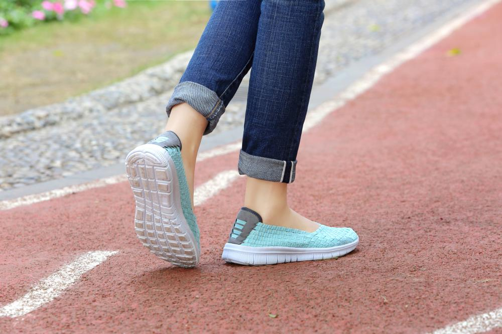Unique Mesh Woven Pumps