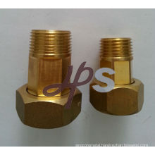 forged brass water meter fitting for single jet or multi jet meter