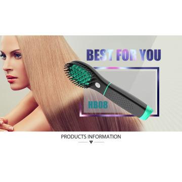 Recargable sin cuerda de la pila cepillo de pelo enderezadora