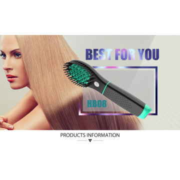 Rechargeable Cordless Battery Hair Brush Straightener