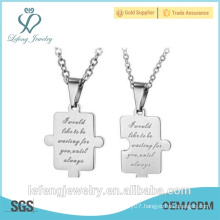 New design product stainless steel black white pendant necklaces