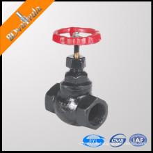 Válvula de globo de hierro gris válvula de globo roscada class600