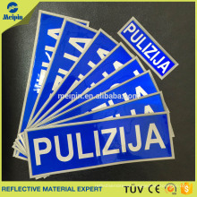 Sew on Reflective PVC logo Patch for Garments