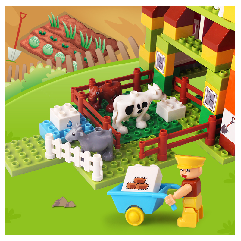 Zoo Theme Environmental Building Blocks Toys For Kids