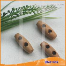 Moda de madera natural cuerno botón para las prendas de vestir BN8105