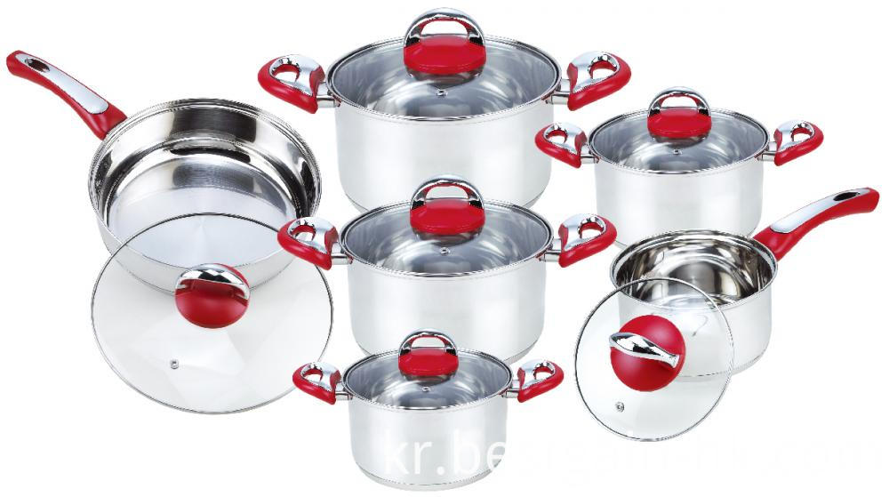 12 Pieces Stainless Steel Cookware Set