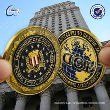Personalizar Plating cor pintar cobre réplica moeda