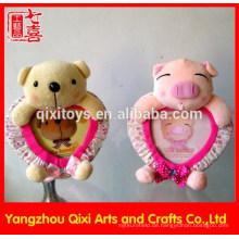 Herzförmiges Plüschspielzeug Valentinsgrußliebe-Fotorahmen