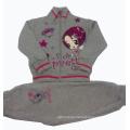Winter Good Quality 100% Cotton Fleece Children Suit 3PC Set Clothes Children Hoodies Outwear Baby Leisure Suit Swg-002