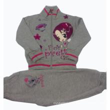 Зима хорошее качество 100% хлопок флис Детская одежда 3шт комплект одежды детей толстовки Верхняя одежда Детская костюм РГС-002